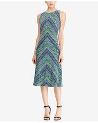 American Living - Printed Midi Dress - Lyst