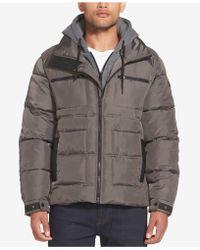 Sean John - Layered Puffer Jacket - Lyst