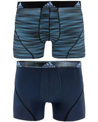 adidas - Men's 2-pk. Sport Performance Climalite® Graphic Trunks - Lyst