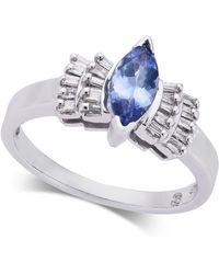 Macy's - Tanzanite (5/8 Ct. T.w.) & Diamond (1/5 Ct. T.w.) Ring In 14k White Gold - Lyst