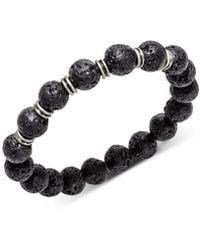 Kenneth Cole Reaction - Lava Beaded Stretch Bracelet - Lyst
