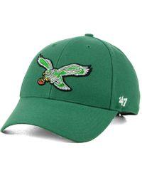 cc4e4c652ee28 Lyst - 47 Brand Women s Philadelphia Flyers Fiona Pom Knit Hat in Black