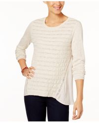 Style & Co. - High-low Contrast Sweater - Lyst