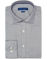 Vince Camuto - Slim-fit Comfort Stretch Navy Dobby Dress Shirt - Lyst