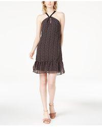 Maison Jules - Leaf-print Halter Dress, Created For Macy's - Lyst