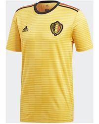 18e33309383 adidas - Belgium Soccer National Team Away Stadium Jersey - Lyst