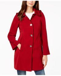 London Fog - Petite Hooded Raincoat - Lyst
