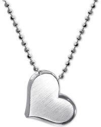 "Alex Woo - Heart 16"" Pendant Necklace In Sterling Silver - Lyst"