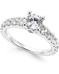 Macy's - Diamond Engagement Ring In 14k White Gold (2 Ct. T.w.) - Lyst