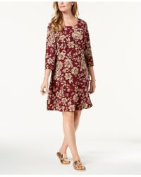 Karen Scott - Printed Swing Dress, Created For Macy's - Lyst