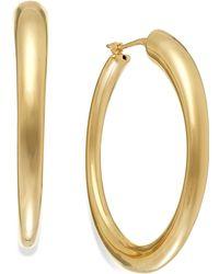 Macy's - Polished Hoop Earrings In 14k Gold - Lyst