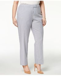 Anne Klein - Plus Size Straight-leg Ankle Trousers - Lyst