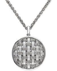 Effy Collection | Diamond Pendant Necklace (1/8 Ct. T.w.) In Sterling Silver | Lyst