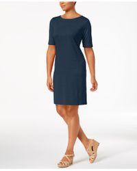 Karen Scott - Cotton Boat-neck Dress, Created For Macy's - Lyst