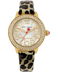 Betsey Johnson - Watch, Women's Leopard-print Leather Strap 32mm Bj00251-01 - Lyst