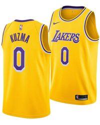 b38f7ee4e Nike Kyle Kuzma Los Angeles Lakers Icon Swingman Jersey in Metallic ...