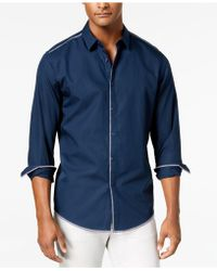 INC International Concepts - Deco Topstitch Shirt, Created For Macy's - Lyst