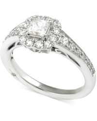 Marchesa - Certified Diamond Princess Engagement Ring (1 Ct. T.w.) In 18k White Gold - Lyst