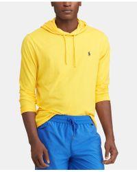 11262820def3 Lyst - Polo Ralph Lauren Men s Jersey T-shirt Hoodie in White for Men