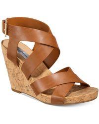 INC International Concepts - Women's Landor Strappy Wedge Sandals - Lyst