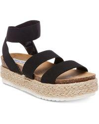 Steve Madden - Kimmie Flatform Espadrille Sandals - Lyst