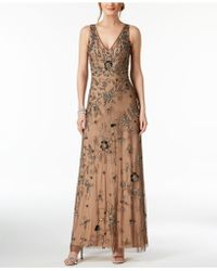 Adrianna Papell - Embellished Gown - Lyst