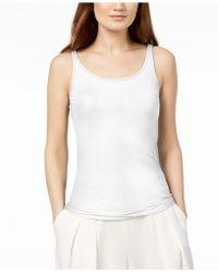 Eileen Fisher - Silk Jersey Tank Top, Regular & Petite - Lyst