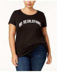 Sub_Urban Riot - Plus Size No Resolutions T-shirt - Lyst