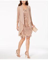 R & M Richards - Petite Embellished Sheath Dress & Draped Jacket - Lyst