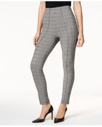 INC International Concepts - I.n.c. Glen Plaid Smoothing Leggings, Created For Macy's - Lyst
