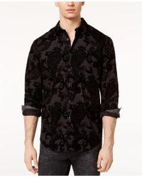 INC International Concepts - Flocked Paisley Shirt, Created For Macy's - Lyst