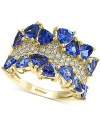 Effy Collection - Effy® Tanzanite (3 Ct. T.w.) & Diamond (3/8 Ct. T.w.) Ring In 14k Gold - Lyst