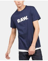 005ca401a37 Lyst - G-Star RAW Men s Graphic-print T-shirt in Orange for Men