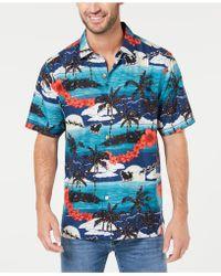 5de10b48460 Tommy Bahama - Moonlight In Paradise Tropical-print Silk Camp Shirt - Lyst