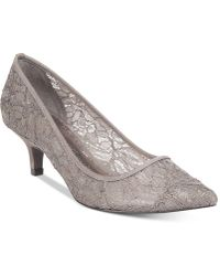 Adrianna Papell - Lois Lace Evening Court Shoes - Lyst