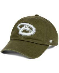 47 Brand - Arizona Diamondbacks Olive White Clean Up Cap - Lyst