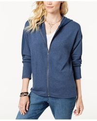 Style & Co. - Petite Thermal-accent Zip-up Hoodie, Created For Macy's - Lyst