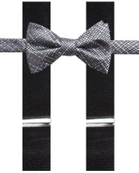 Alfani - Plaid Pre-tied Bow Tie & Suspender Set, Created For Macy's - Lyst
