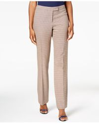 Anne Klein - Flare-leg Plaid Pants, Created For Macy's - Lyst