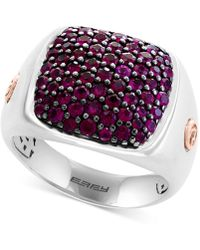 Effy Collection - Ruby Ring (1-3/4 Ct. T.w.) In Sterling Silver & 14k Rose Gold - Lyst