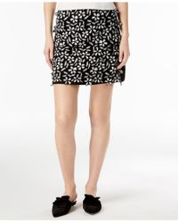 French Connection - Embroidered Mini Skirt - Lyst