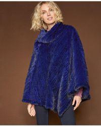 The Fur Vault - Mink Fur Poncho - Lyst