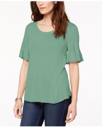 Style & Co. - Scoop-neck Bell-sleeve Sweater, Created For Macy's - Lyst