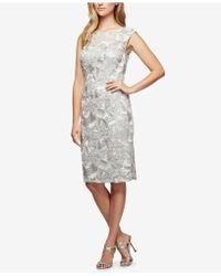 Alex Evenings - Soutache Embroidered Dress - Lyst