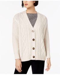 Weekend by Maxmara - Dover Wool Cable-knit Cardigan - Lyst