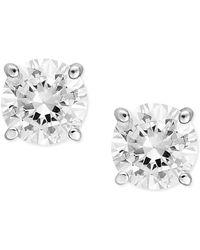 Macy's - Diamond Stud Earrings (1/2 Ct. T.w.) In 14k White Gold - Lyst