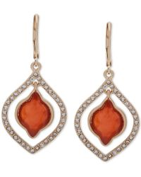 Lonna & Lilly - Gold-tone Pavé & Stone Orbital Drop Earrings - Lyst