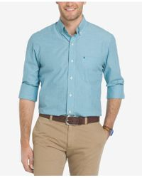 Izod - Men's Saltwater Oxford Shirt - Lyst