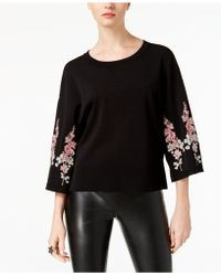 INC International Concepts - Embroidered Sweater - Lyst