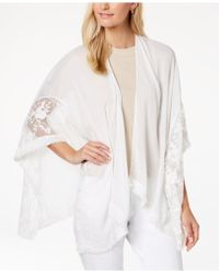 INC International Concepts - I.n.c. Embroidered Fringe Cape, Created For Macy's - Lyst